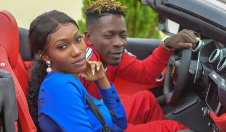 Exclusive Photos: Shatta Wale and Wendy Shay cruise in Ferrari worth $1 Million