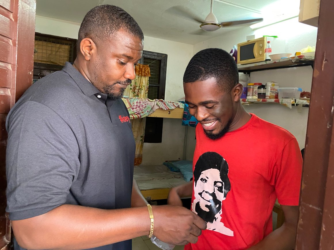 John Dumelo, Hand Sanitizers, Ayawaso West Constituency