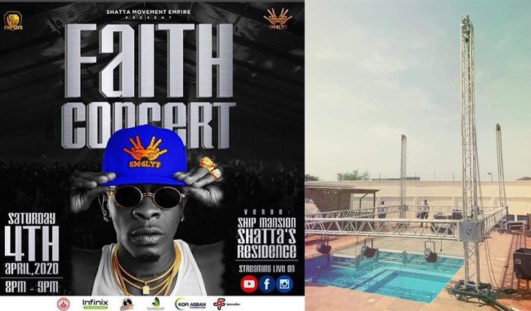 AH Shatta Wale paaa: Shatta Mounts a huge stage at home for his Faith Concert – Photos