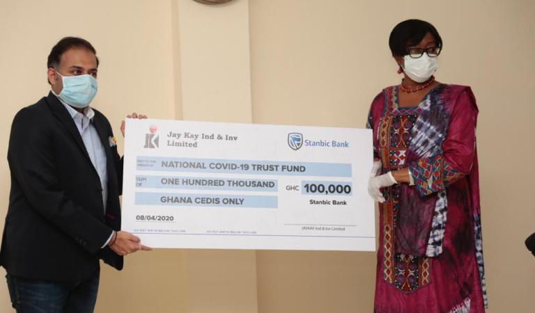 Jay Kay Industries and Investments Ltd donates GHS100,000 to COVID-19 Trust Fund