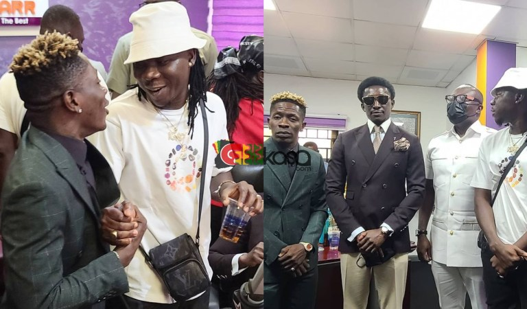 Stonebwoy And Shatta Wale Storms Bola Ray's Show On Starr Fm