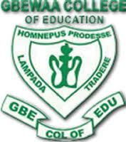 Gbewaa College of Education Admission Form