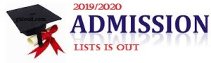 Colleges Admission List 2019/2020
