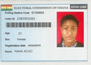 Ghana Voters ID card