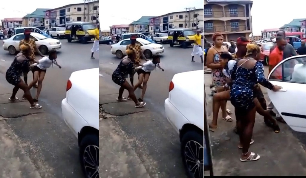 Lady runs mad after getting off Benz ghnewsbag
