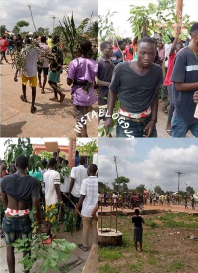 Shocking: Nigerian youth protest the disappearance of their p£nises