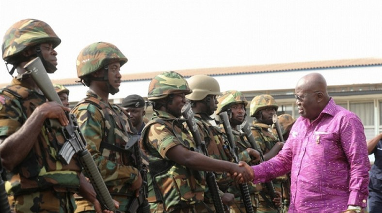 President AKufo-Addo commends Military for enforcing partial lockdown