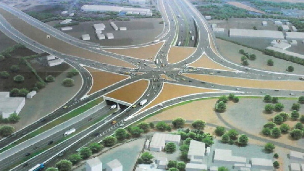 Tema Interchange 95 percent complete and ready for use
