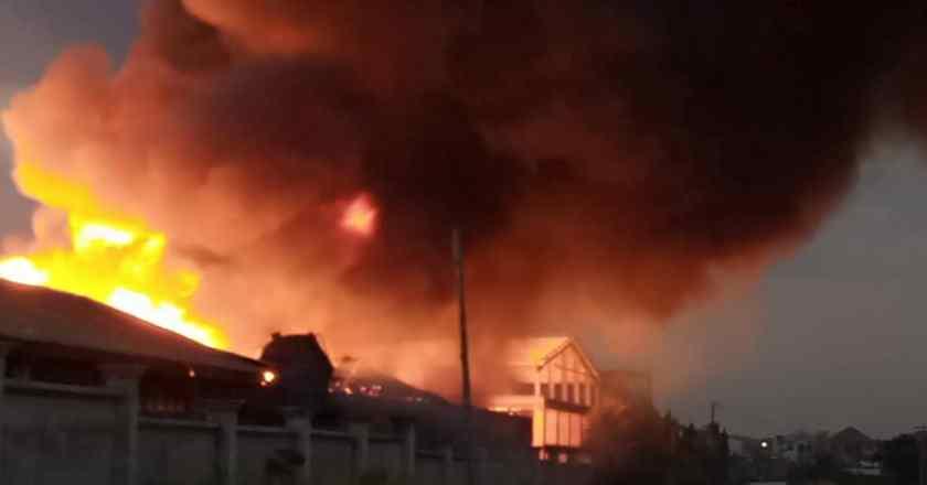 Royal Foam factory gutted by fire