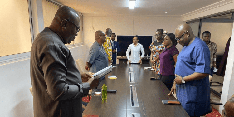NDC COVID 19 Team donates PPEs to National Cardiothoracic Center