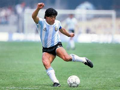 "June 22, 1986 Maradona scores his ""Hand of God"" goal against England"