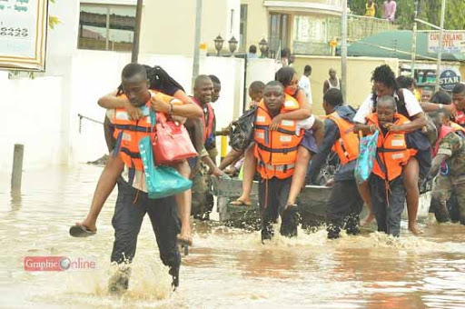 NADMO advise people in flood-prone areas to move to safer grounds