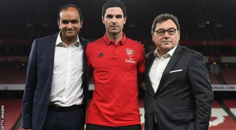 Arsenal head of football Raul Sanllehi to be replaced by Vinai Venkatesham