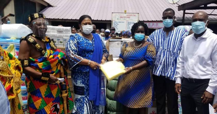 First lady presents medical items to Saltpond Government hospital