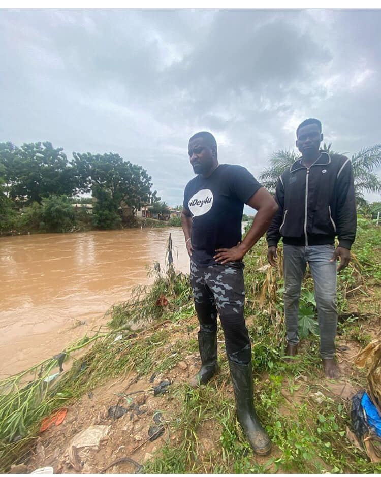 John Dumelo vows to fix Ayawaso West Wuogon flood issues