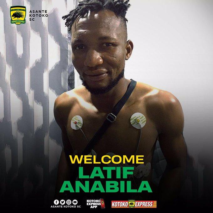 Asante Kotoko capture Latif Anabila