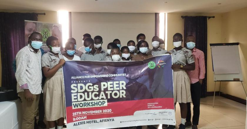 Alliance for Empowering Rural Communities educates youth on SDGs