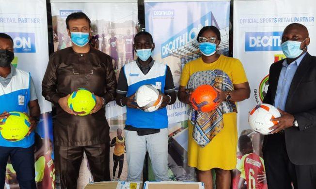 Decathlon Ghana presents 100 balls to GFA