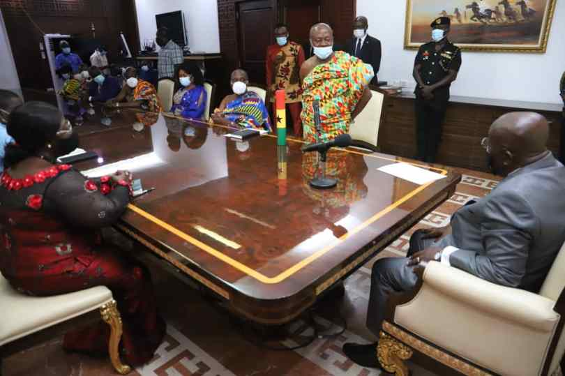 President Akufo-Addo swears in new Council of State President