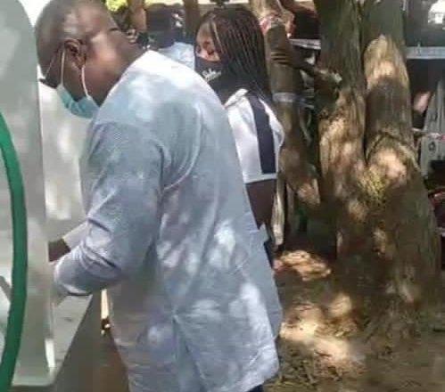 Former President Mahama cast vote in Borle
