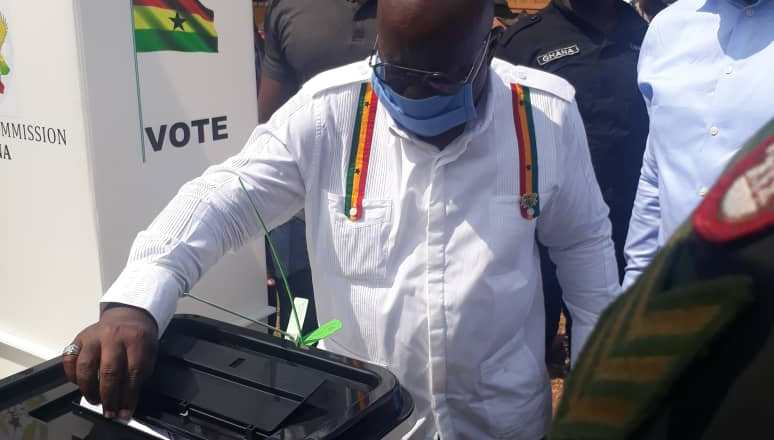 President Akufo-Addo cast vote in Kyebi