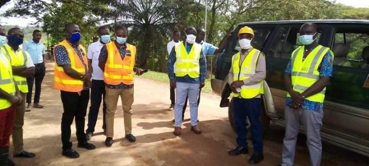 CoST MSG members visit Cocoavilla road in Takoradi
