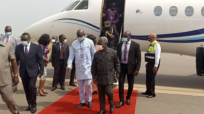George Weah: Liberian President arrives for Akufo Pres Addo inauguration
