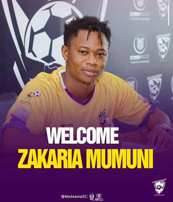 Zakaria Mumuni Signs For Medeama