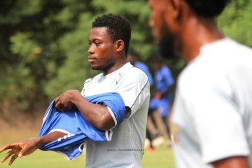 Hearts midfielder Michelle Sarpong resumes training