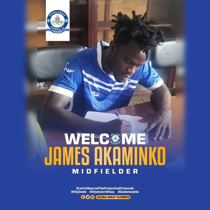 Great Olympics signs James Akaminko