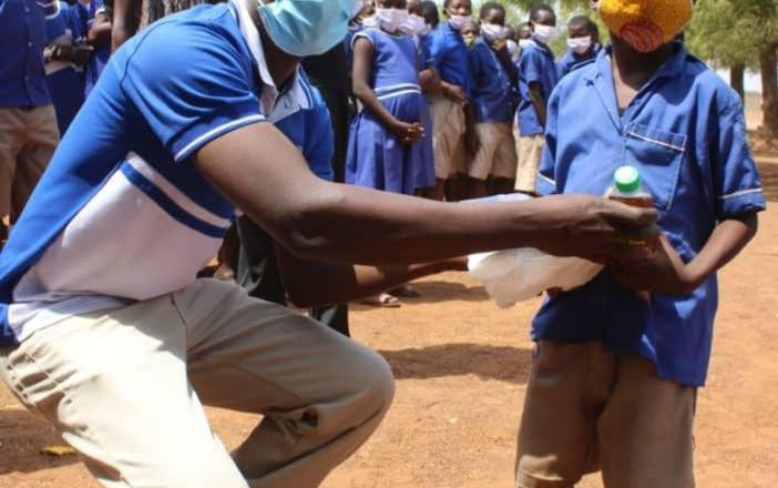 NGO welcomes pupils to school with a party