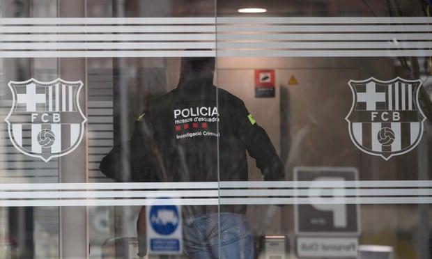 Police arrest Josep Maria Bartomeu after raid on Barcelona's Camp Nou