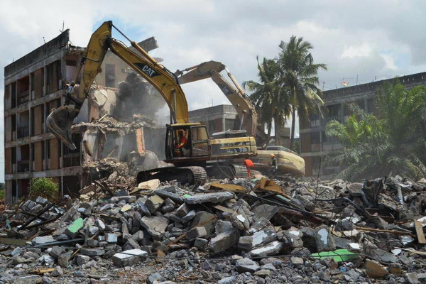Tema West begins demolition of structures on waterways