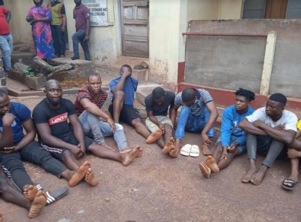 Police raid Kasoa township....arrest 340 suspected criminals