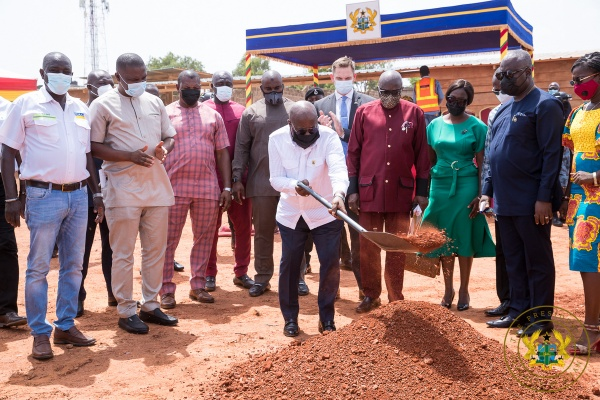 "President Akufo-Addo Cuts Sod For Gh¢5 Million ""Ghana Award House"""