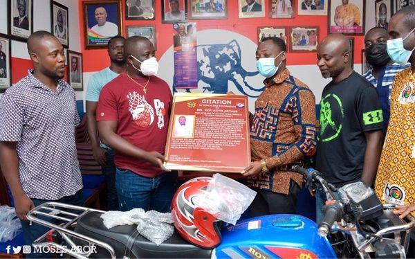 G/A NPP Regional Youth Organizer Rewards Constituency Executives For Their Hard Work