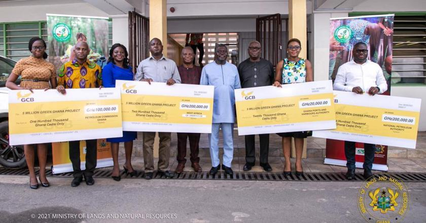 Four corporate entities present GH¢ 520,000 towards Green Ghana Project