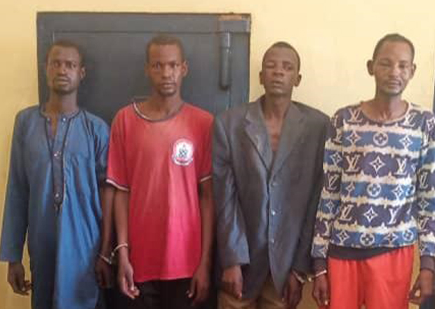 4 Suspected Armed Robbers Arrested With Gun At Banda Nkwanta