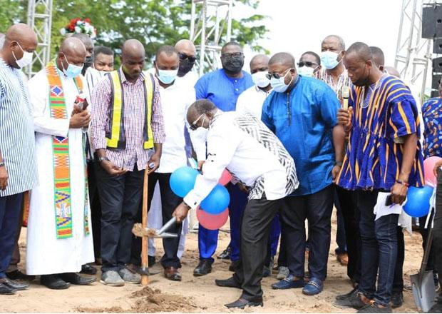 Freddie Blay Breaks Ground for Volta Regional NPP Office Complex