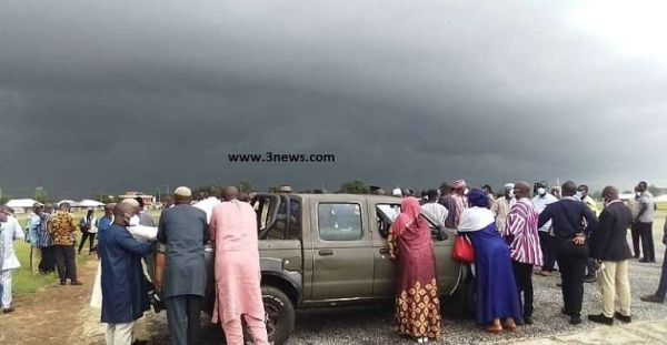 Weather Delays Prez Akufo-Addo Landing in Wa