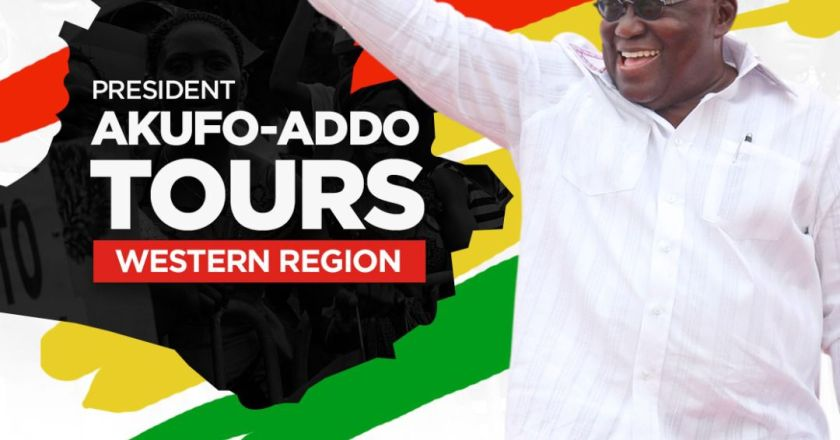 President Akufo-Addo Begins 4-day Tour Of Western And Western North Regions