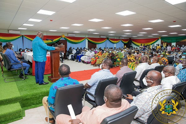 President Akufo-Addo Commissions New Western North RCC Administration Block