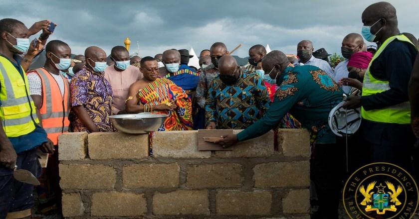 President Akufo-Addo Cuts Sod For 100-bed Obuasi Trauma & Accident Hospital