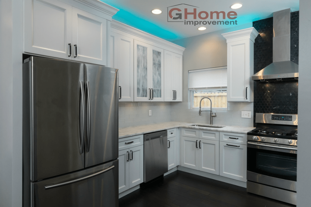 Brooklyn Bright White Cabinets - Kitchen Remodel - G Home Improvement