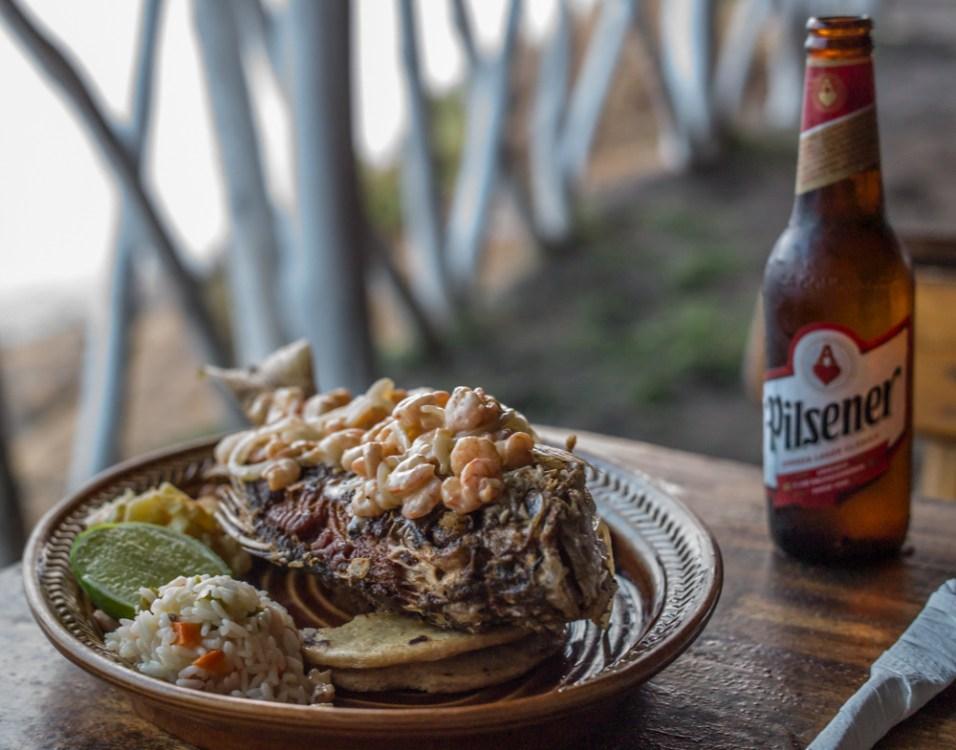 Red Snapper mit Krabben und Bier