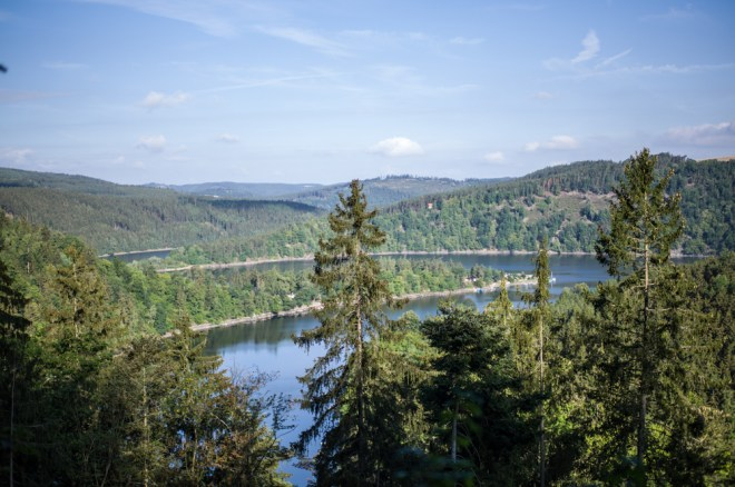 Saale artificial Water-Reservoir