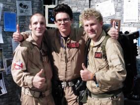 Europäischer Gipfel: Andre von Ghostbusters Luxemburg, Timo von GBD, Dave von den Swiss Ghostbusters