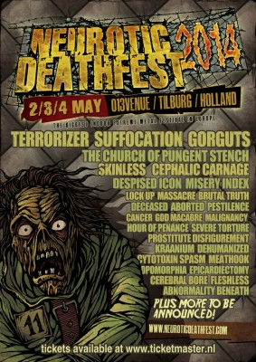 neurotic deathfest flyer