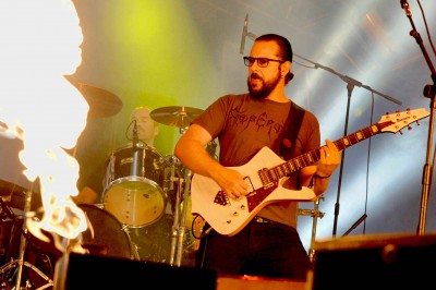 Ihsahn with Emperor, photo by Emma Stone