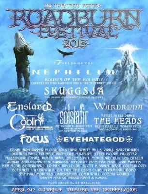 Roadburn Festival 2015 Line Up Poster